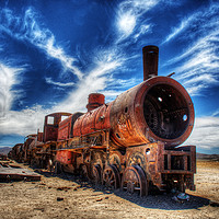 Buy canvas prints of The Uyuni Train Graveyard by Colin Woods