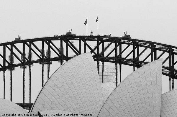 Sydney Opera House and Bridge Canvas print by Colin Woods