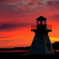Buy canvas prints of Lighthouse at Sunset by Colin Woods