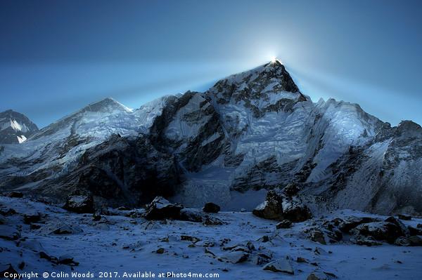 Mount Everest Sunsrise Canvas Print by Colin Woods