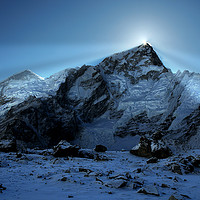 Buy canvas prints of Mount Everest Sunsrise by Colin Woods