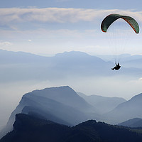 Buy canvas prints of Parapenting in the French Alps by Colin Woods