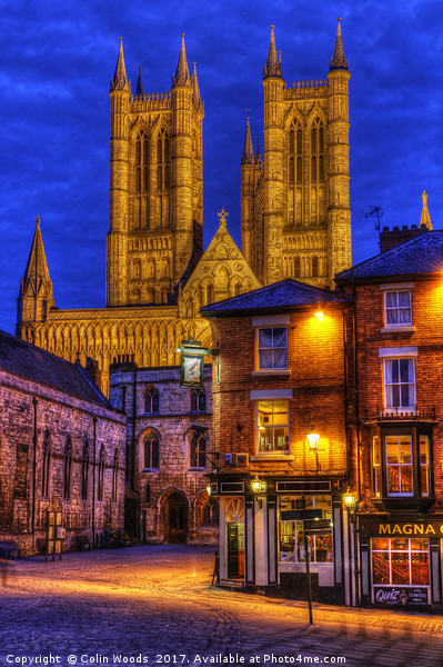 Lincoln Cathedral at Night Canvas Print by Colin Woods