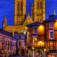 Buy canvas prints of Lincoln Cathedral at Night by Colin Woods