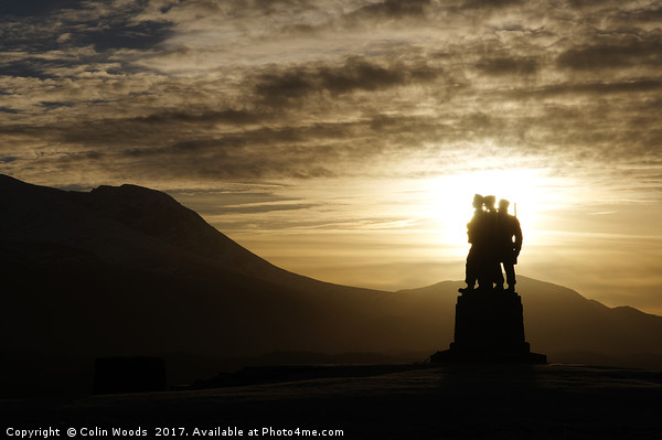 The Commando memorial at Spean Bridge in Scotland Canvas Print by Colin Woods