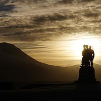 Buy canvas prints of The Commando memorial at Spean Bridge in Scotland by Colin Woods