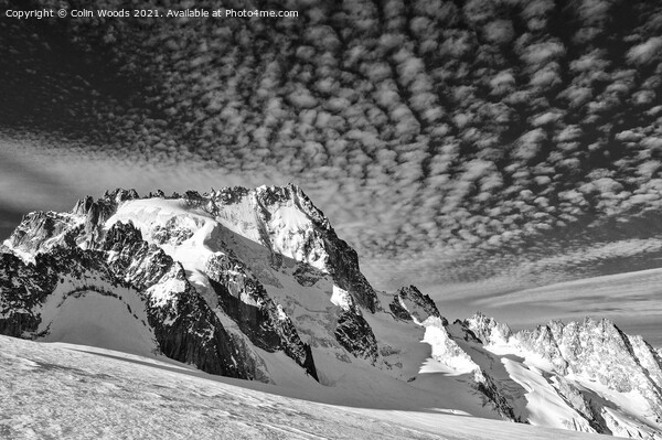 The Aiguille de Chardonnet in the French Alps Framed Mounted Print by Colin Woods