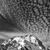 Buy canvas prints of The Aiguille de Chardonnet in the French Alps by Colin Woods