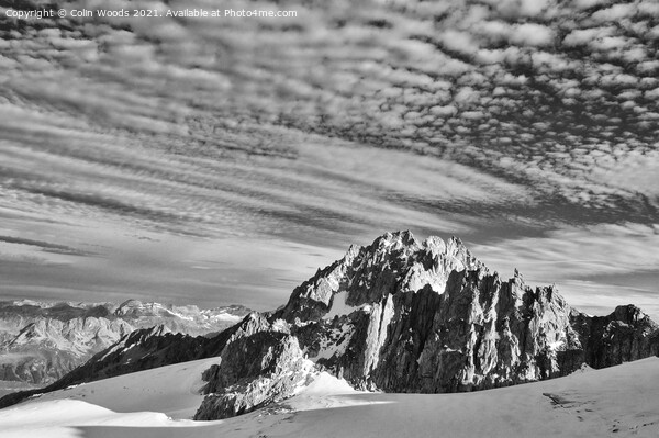 The Aiguille de Tour in the French Alps Framed Mounted Print by Colin Woods