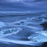 Buy canvas prints of Melting Ice on Iceland Beach  by Arterra