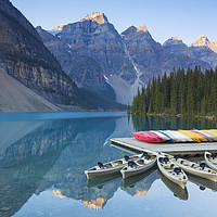 Buy canvas prints of Moraine Lake in the Banff National Park by Arterra