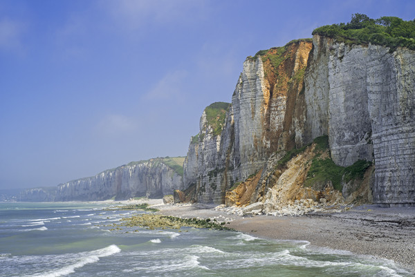 Cliffs at Yport, Normandy Canvas print by Arterra