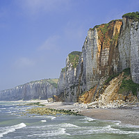 Buy canvas prints of Cliffs at Yport, Normandy by Arterra