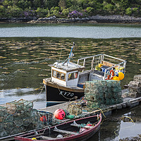 Buy canvas prints of Fishing Boat in Plockton, Scotland by Arterra