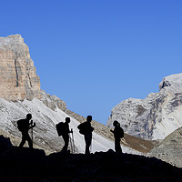 Buy canvas prints of Walkers in the Dolomites by Arterra