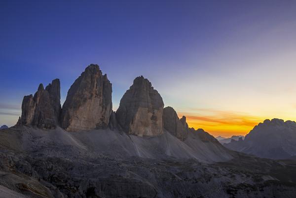 Tre Cime di Lavaredo at Sunset Canvas print by Arterra