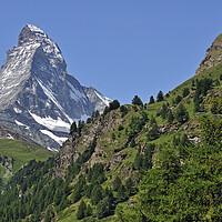 Buy canvas prints of Matterhorn Mountain in Wallis, Switzerland by Arterra