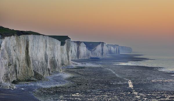 White Cliffs at Sunset Framed Print by Arterra