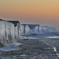 Buy canvas prints of White Cliffs at Sunset by Arterra