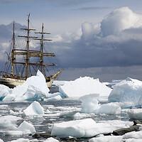 Buy canvas prints of Tallship Europa in Antarctica by Arterra
