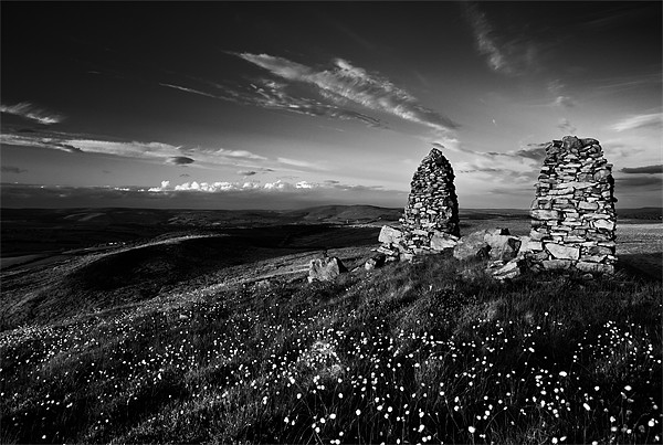 Stone Stacks on Skipton Moor Canvas print by Jim Round