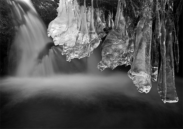 Ice Pendulums, Yorkshire Dales. Canvas print by Jim Round