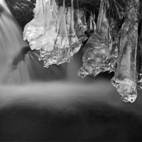 Buy canvas prints of Ice Pendulums, Yorkshire Dales. by Jim Round