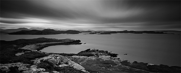 The Summer Isles From Meall Dearg Canvas print by Jim Round
