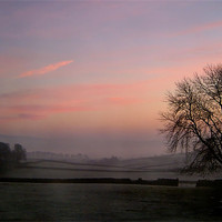 Buy canvas prints of Misty,Dawn, Yorkshire by Jim Round