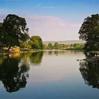 Buy canvas prints of River Wharfe, Bolton Abbey by Jim Round