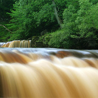 Buy canvas prints of Kisdon Force in Swaledale by Jim Round
