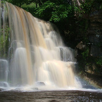 Buy canvas prints of West Stonesdale Falls, Swaledale by Jim Round