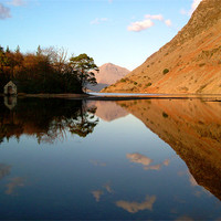 Buy canvas prints of The Boat House, Wast water by Jim Round