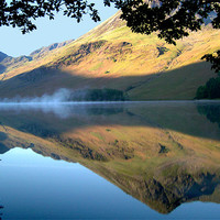 Buy canvas prints of Mist On Buttermere, Buttermere by Jim Round