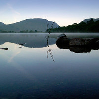 Buy canvas prints of Buttermere Lake, Lake District by Jim Round