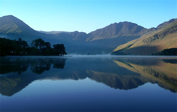 Mountain Reflection, Buttermere Canvas print by Jim Round