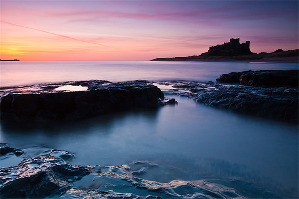 Bamburgh Castle Sunrise, Northumberland Canvas print by Jim Round
