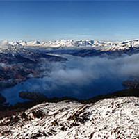 Buy canvas prints of Loch Katrine from Beinn A'an, The Trossachs by Jim Round