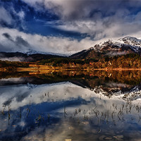 Buy canvas prints of Ben Venue from Loch Achray by Jim Round