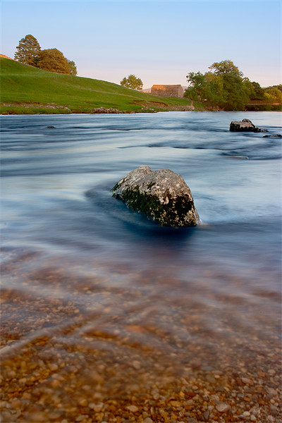 River Wharfe at sunset, Linton Canvas print by Jim Round