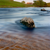 Buy canvas prints of River Wharfe at sunset, Linton by Jim Round