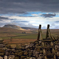 Buy canvas prints of Pen-y-Ghent, Yorkshire Dales by Jim Round