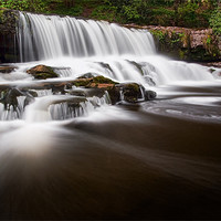 Buy canvas prints of Aysgarth Falls, Yorkshire Dales by Jim Round