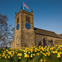 Buy canvas prints of St. Peter's Church, Addingham by Jim Round