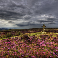 Buy canvas prints of Cowper's Cross, Ilkley Moor, Yorkshire by Jim Round