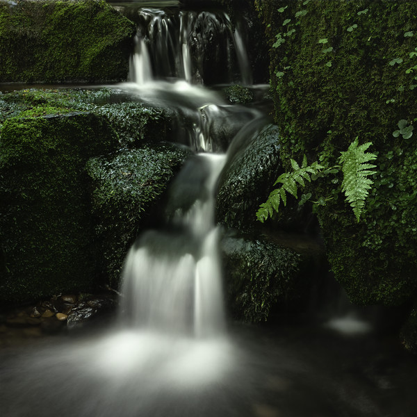 Hebers Ghyll Small Cascade Canvas print by Jim Round