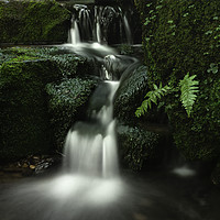 Buy canvas prints of Hebers Ghyll Small Cascade by Jim Round
