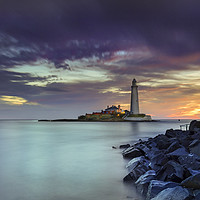 Buy canvas prints of St Mary's on the rocks. by John Carson