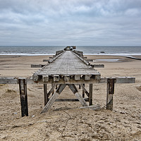 Buy canvas prints of Steetley Pier by Stephen Smith Galleries