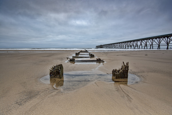 Steetley Pier Framed Mounted Print by Stephen Smith Galleries